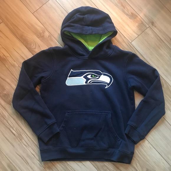 Seattle Seahawks boys hoody sweatshirt. M 5bc534f5e944ba0958e905d2 6fb151a5b